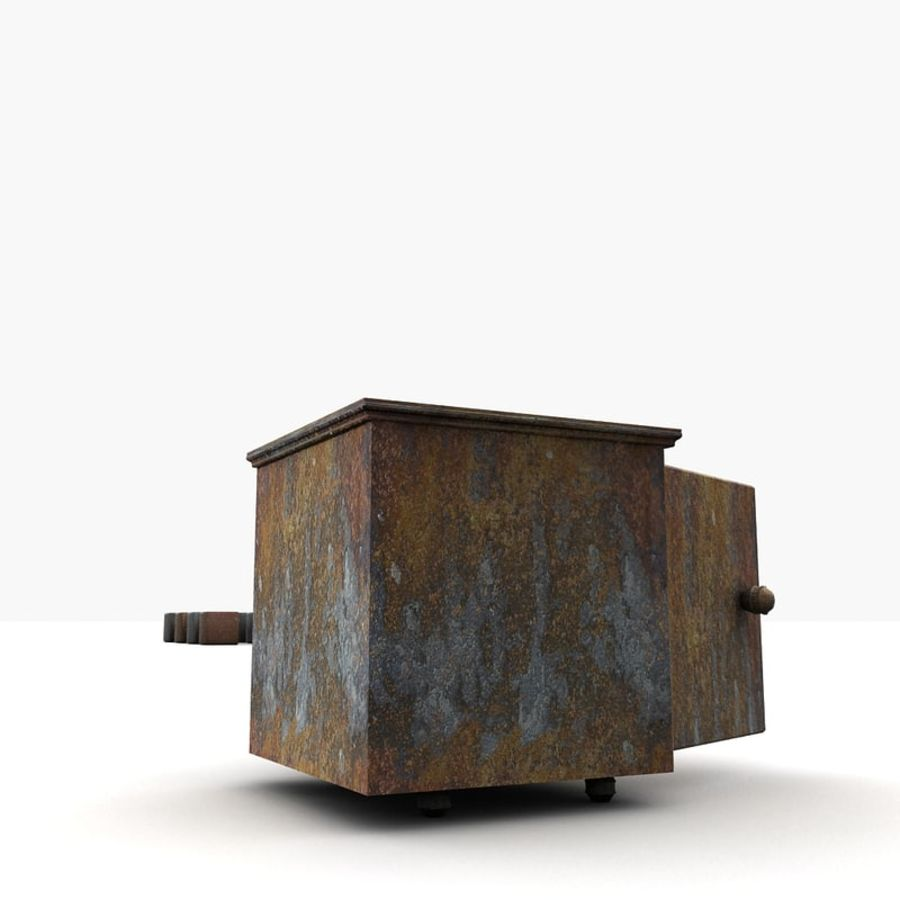 Small Small Metal Locker Textured royalty-free 3d model - Preview no. 4