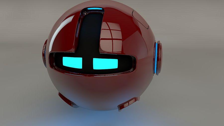 Red Robot Pod V2 royalty-free 3d model - Preview no. 2