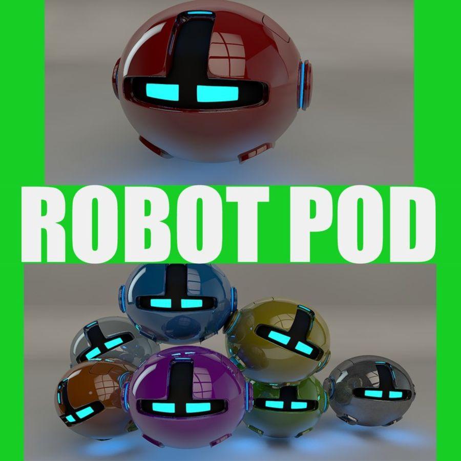 Red Robot Pod V2 royalty-free 3d model - Preview no. 1