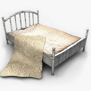 Old Metal Bed Textured 3d model