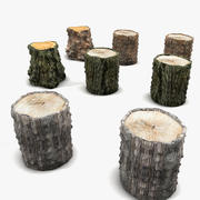 Stump Collection 3d model
