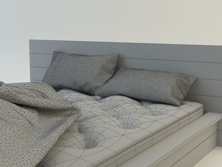 Bed royalty-free 3d model - Preview no. 8