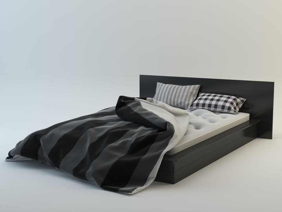 Bed royalty-free 3d model - Preview no. 3