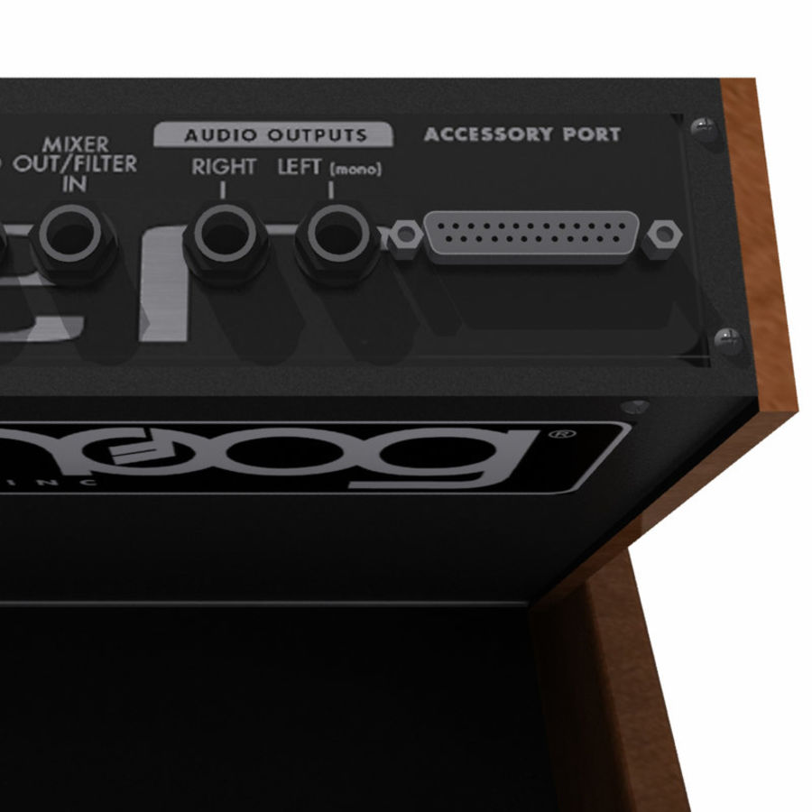 Keyboard / Synthesizer: Moog Voyager: Wood Finish royalty-free 3d model - Preview no. 12