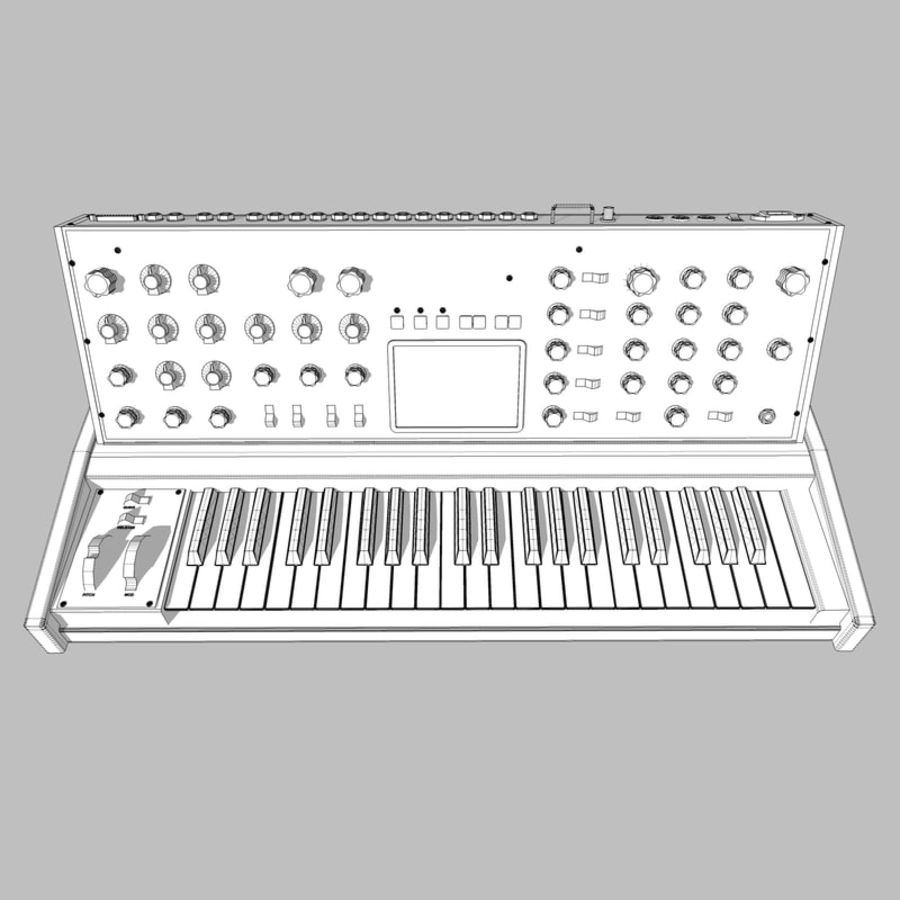 Keyboard / Synthesizer: Moog Voyager: Wood Finish royalty-free 3d model - Preview no. 15