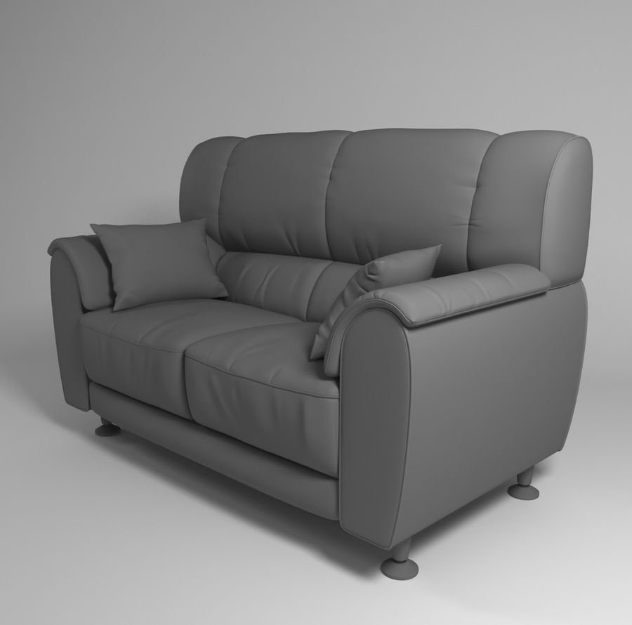 leather sofa royalty-free 3d model - Preview no. 6