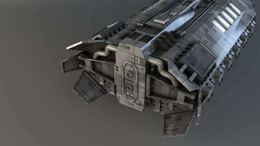Babylon 5 Shuttle royalty-free 3d model - Preview no. 3