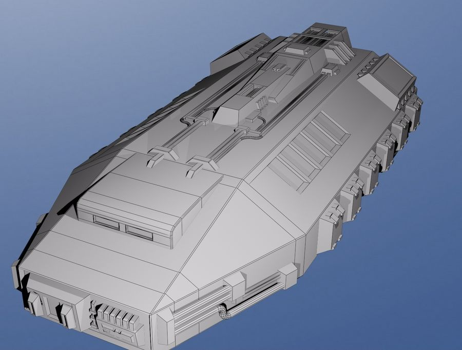 Babylon 5 Shuttle royalty-free 3d model - Preview no. 2