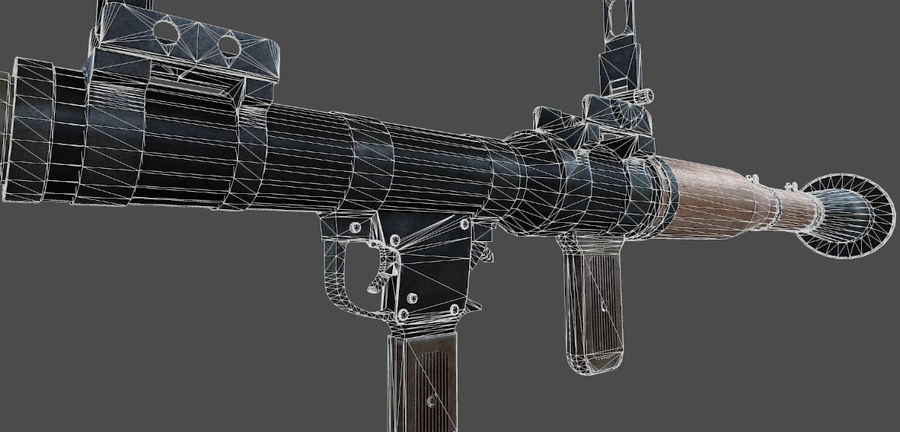 Rocket Launcher royalty-free 3d model - Preview no. 6