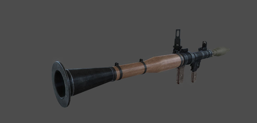 Rocket Launcher royalty-free 3d model - Preview no. 2