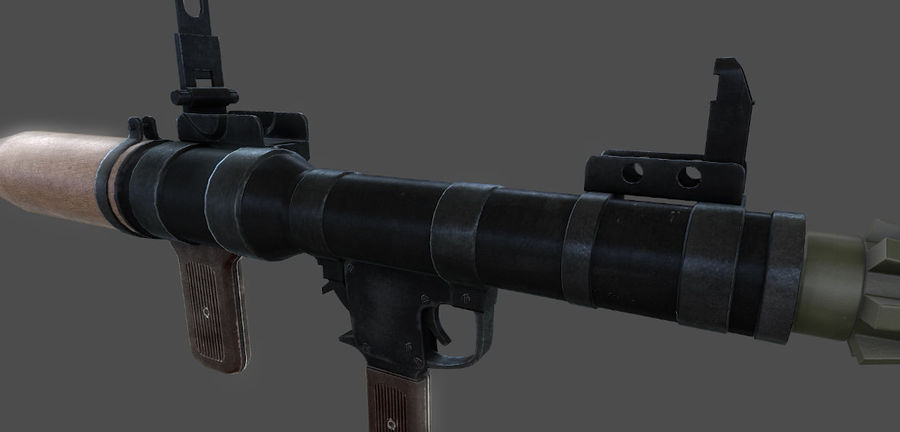 Rocket Launcher royalty-free 3d model - Preview no. 3