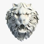 Lion Head Sculpture 2 3d model