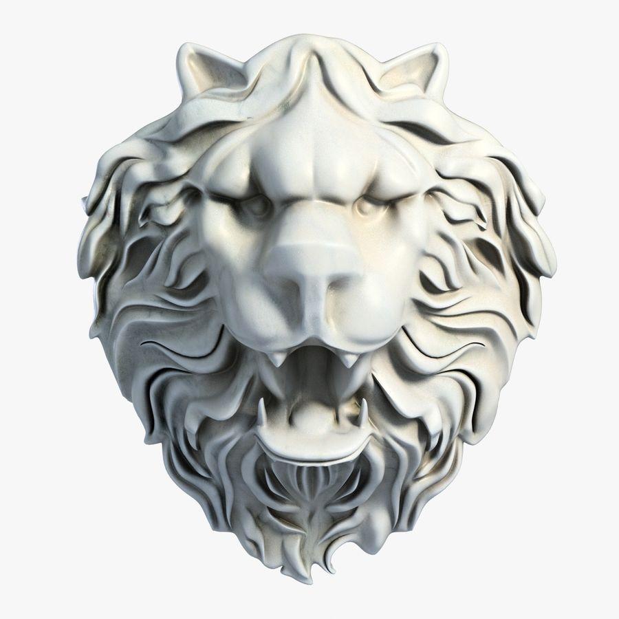 Lion Head Sculpture 2 royalty-free 3d model - Preview no. 1