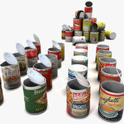 Tin Cans Labels Collection 3d model