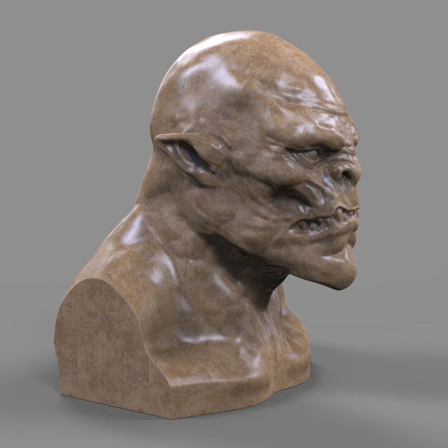Orc Head 3D Print royalty-free 3d model - Preview no. 5