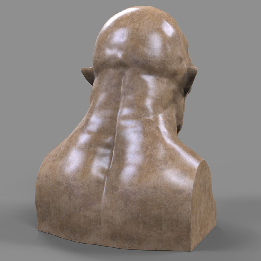 Orc Head 3D Print royalty-free 3d model - Preview no. 6