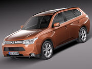 Mitsubishi Outlander 2013 3d model