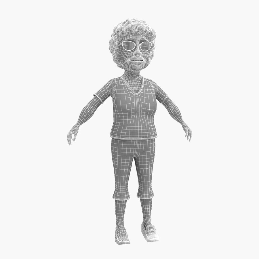 grootmoeder royalty-free 3d model - Preview no. 5