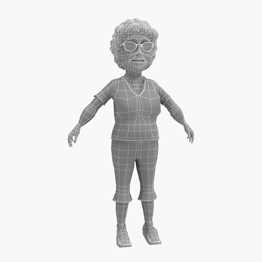 grootmoeder royalty-free 3d model - Preview no. 4
