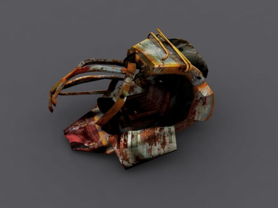 ruined device royalty-free 3d model - Preview no. 2