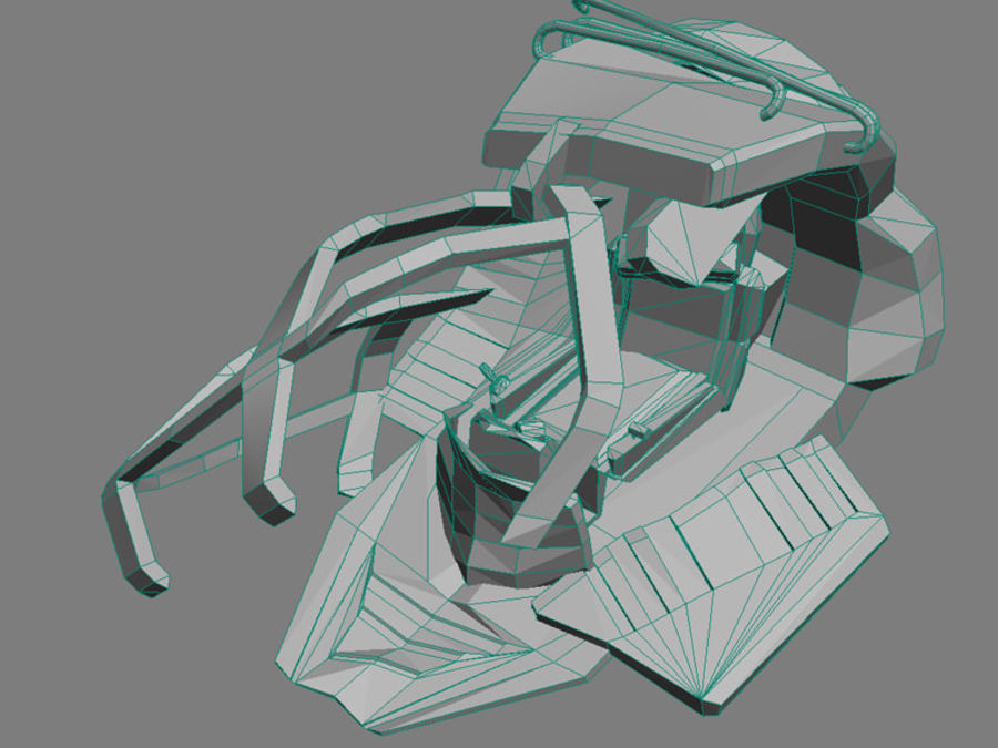 ruined device royalty-free 3d model - Preview no. 6