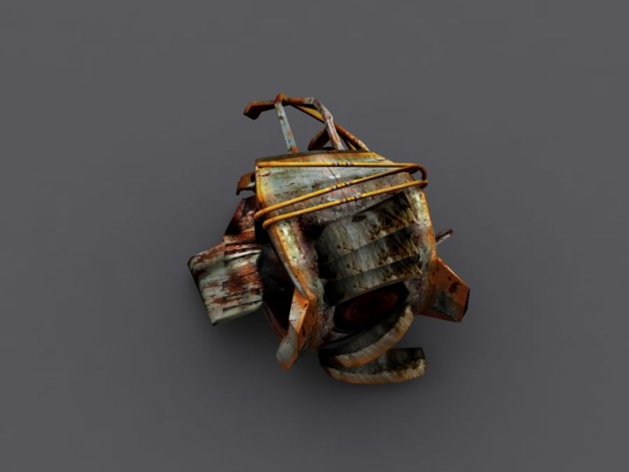 ruined device royalty-free 3d model - Preview no. 4