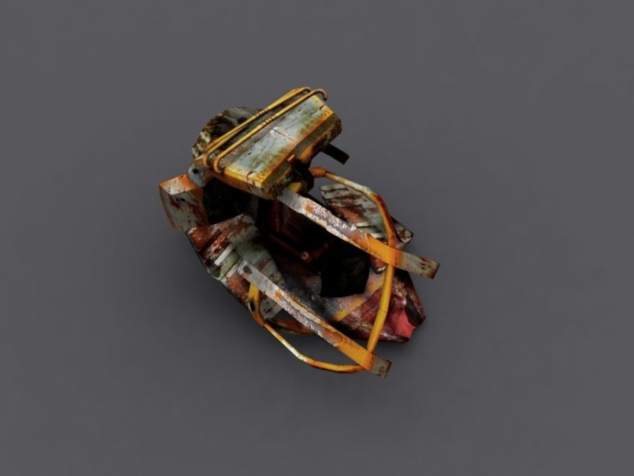 ruined device royalty-free 3d model - Preview no. 1