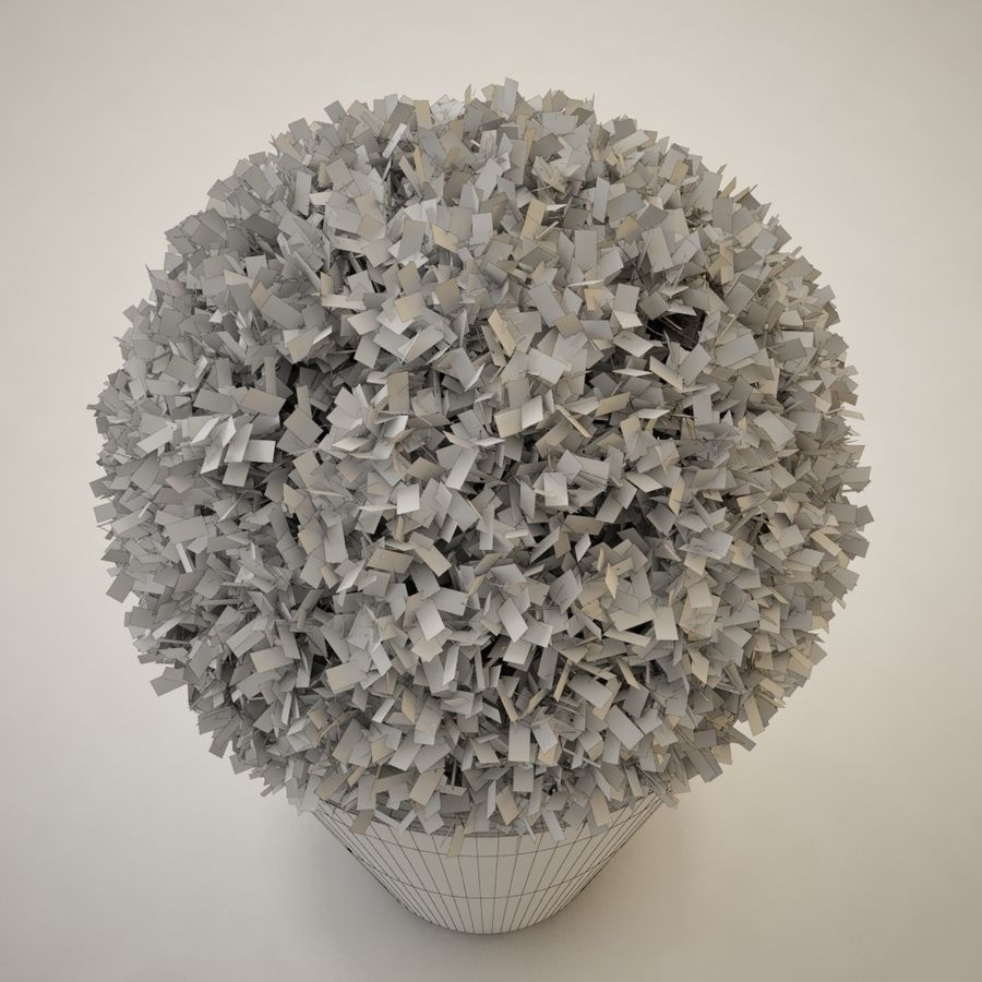 Plant for architectural interiors type D royalty-free 3d model - Preview no. 6