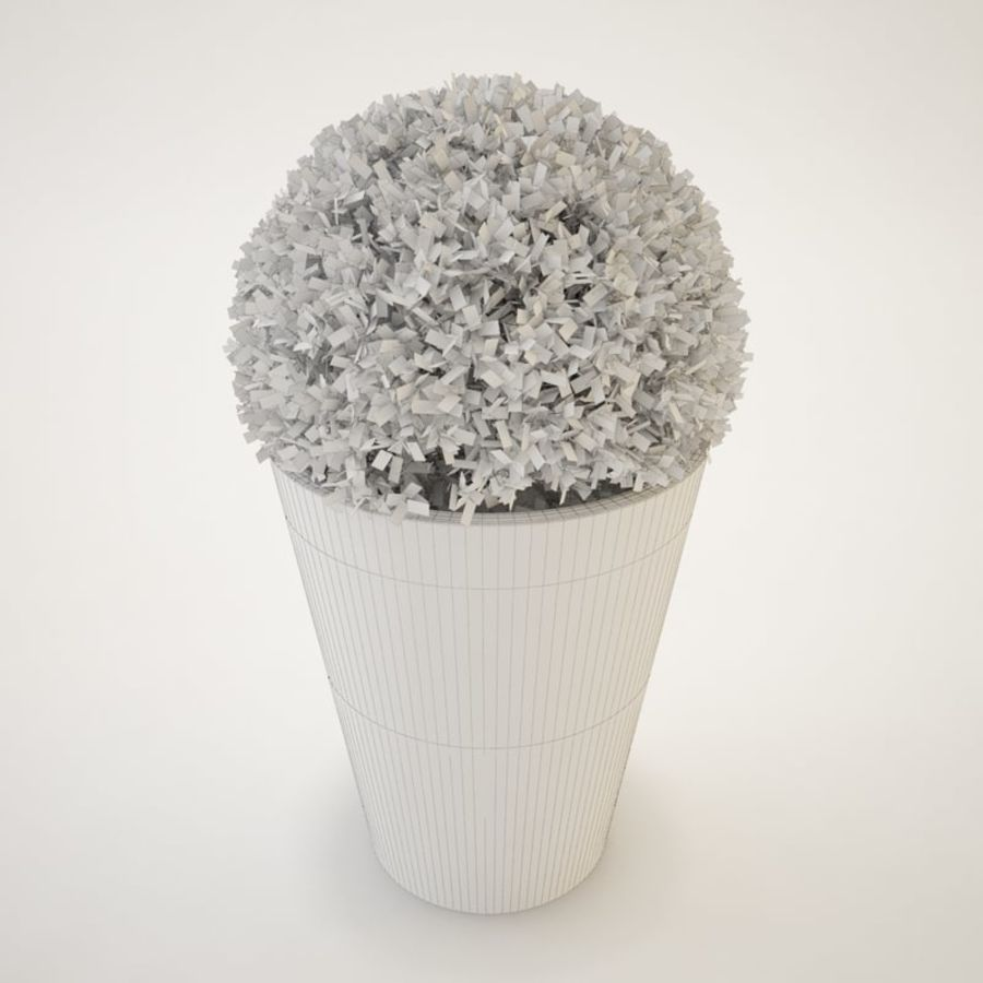 Plant for architectural interiors type D royalty-free 3d model - Preview no. 5