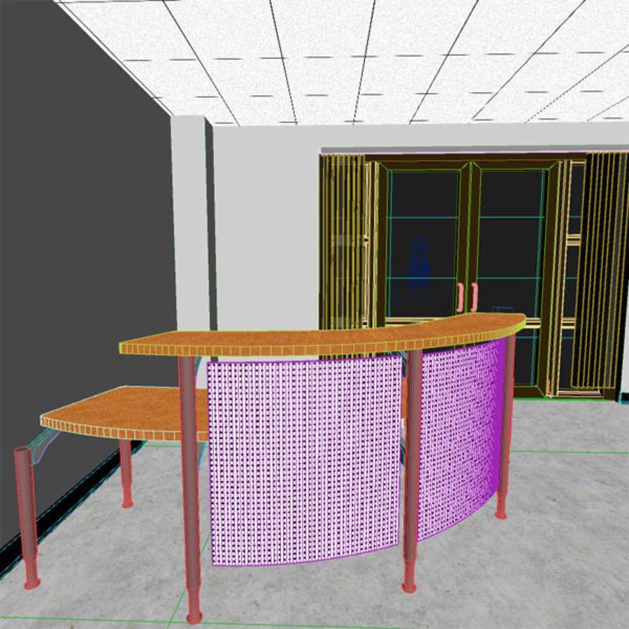 Reception Desk royalty-free 3d model - Preview no. 5