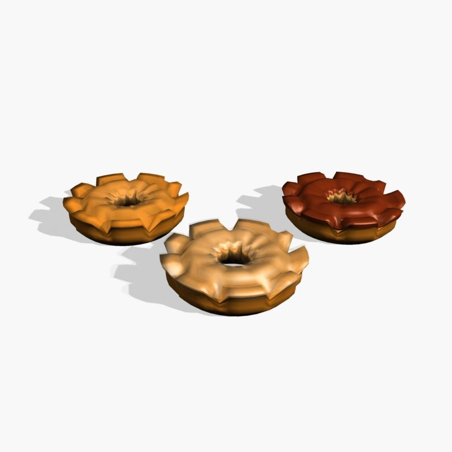 Donut_old 구식 royalty-free 3d model - Preview no. 3