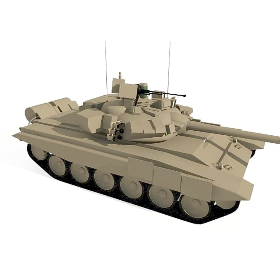 T-90 low-poly Base mesh royalty-free 3d model - Preview no. 1