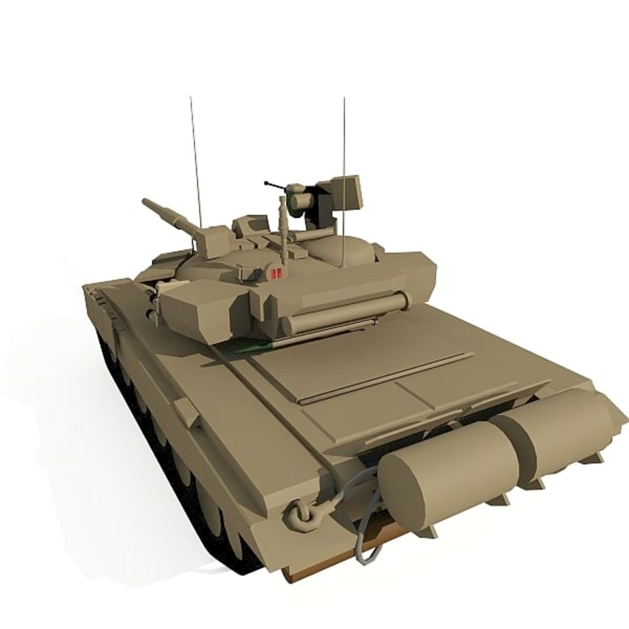 T-90 low-poly Base mesh royalty-free 3d model - Preview no. 2