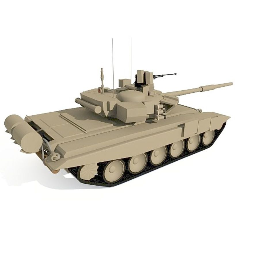 T-90 low-poly Base mesh royalty-free 3d model - Preview no. 5