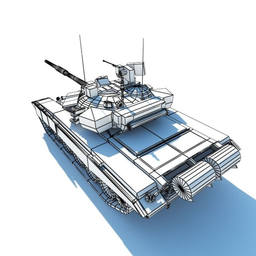 T-90 low-poly Base mesh royalty-free 3d model - Preview no. 6