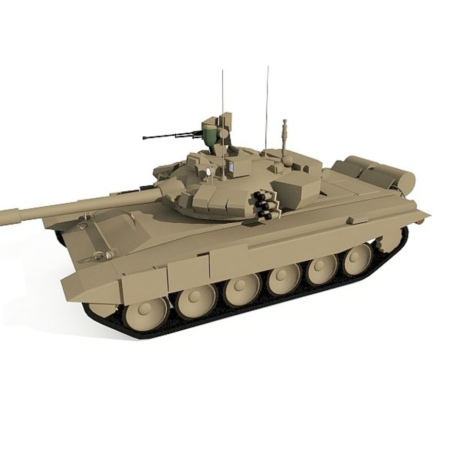 T-90 low-poly Base mesh royalty-free 3d model - Preview no. 3