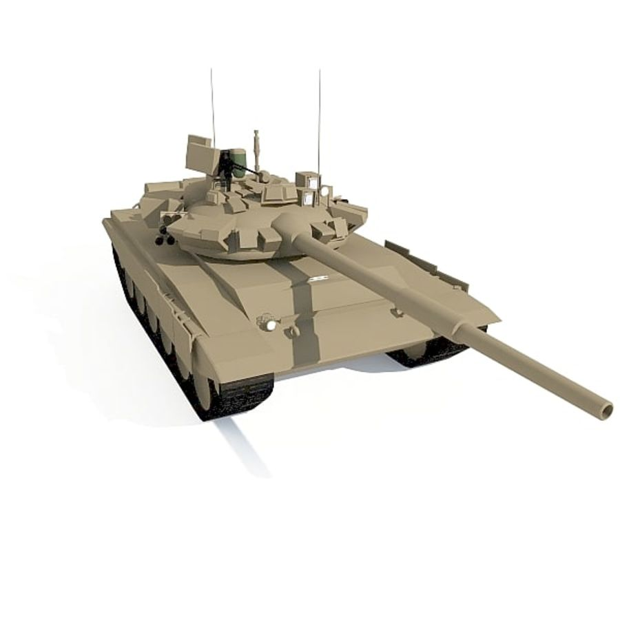 T-90 low-poly Base mesh royalty-free 3d model - Preview no. 4