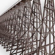 Wooden Trestle Bridge 3d model