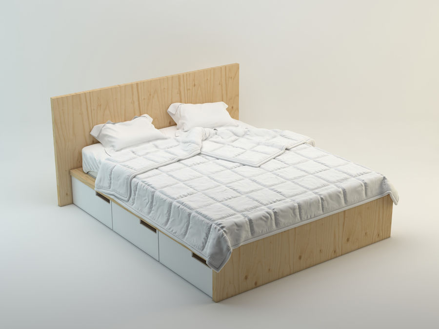Bed royalty-free 3d model - Preview no. 2