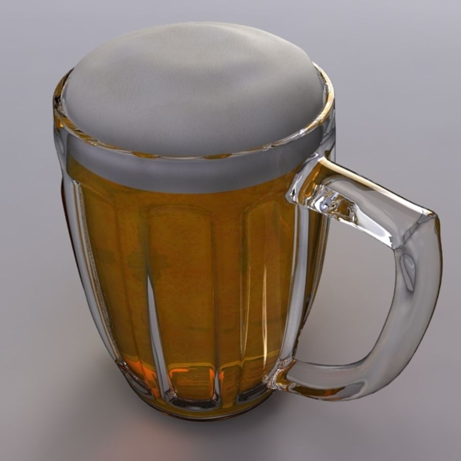 Pint royalty-free 3d model - Preview no. 3