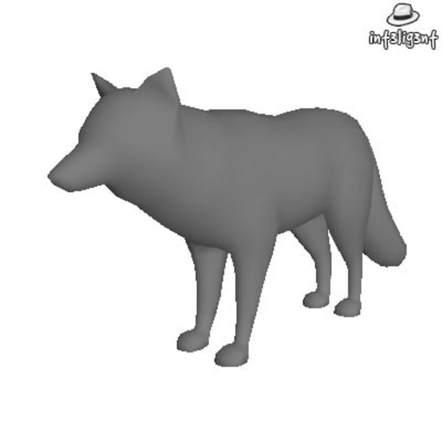 Low Poly Fox royalty-free 3d model - Preview no. 1