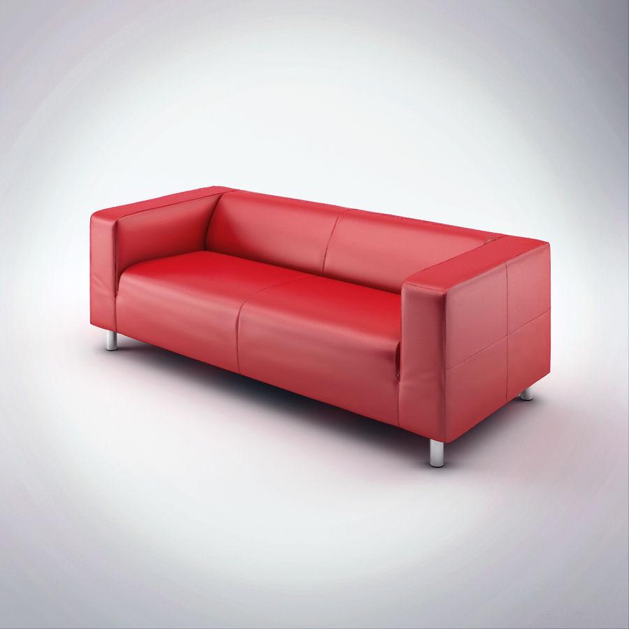 Ikea Red Leather Sofa: Ikea Klippan Sofa 3D Model $7