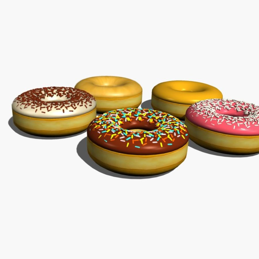 Donut_raised ring royalty-free 3d model - Preview no. 4