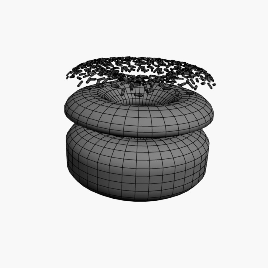 Donut_raised ring royalty-free 3d model - Preview no. 3