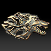 Soulagement du loup occidental 3d model