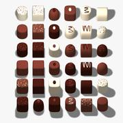 Simple Chocolates 3d model