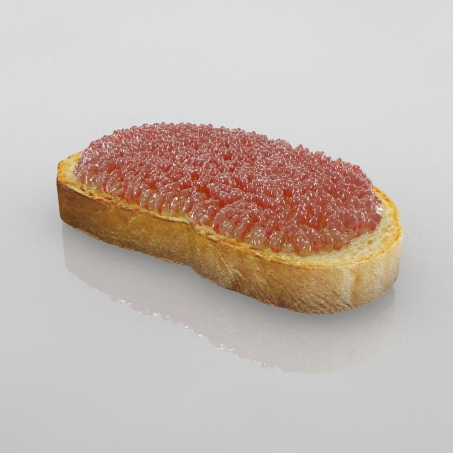 Caviar Red royalty-free 3d model - Preview no. 2