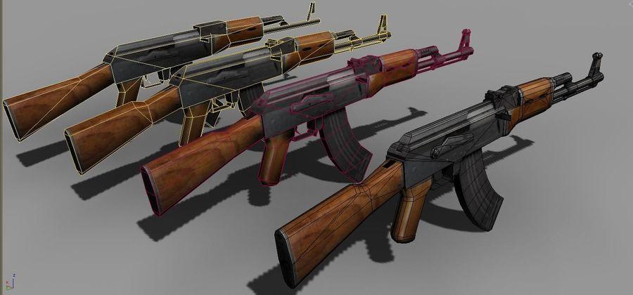 AK 47 Game Ready royalty-free 3d model - Preview no. 3