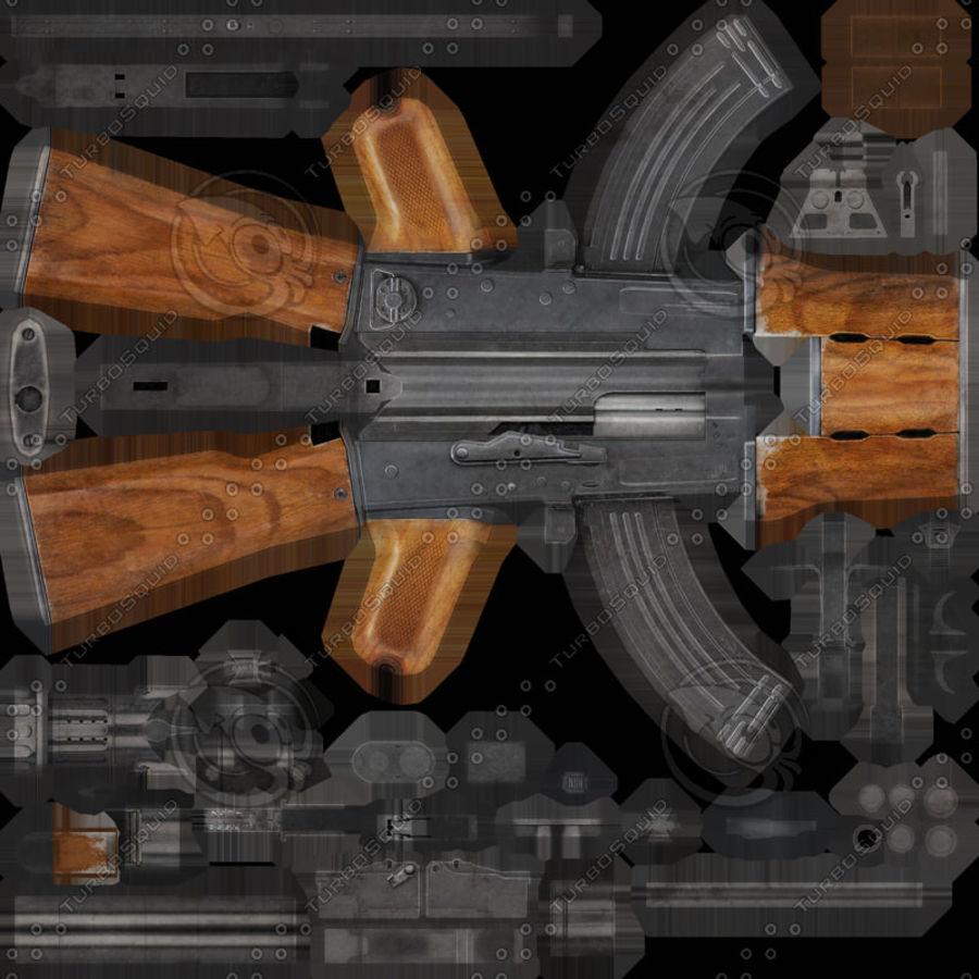 AK 47 Game Ready royalty-free 3d model - Preview no. 4