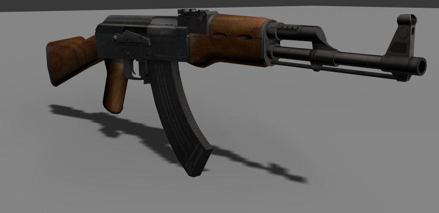 AK 47 Game Ready royalty-free 3d model - Preview no. 1